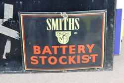 Smiths Battery Stockists Enamel Sign