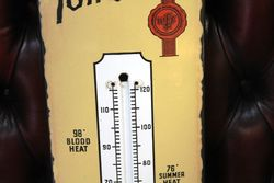 Smoke Tom Long Grand Old Rich Tobacco Enamel Advertising Thermometer