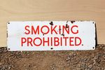Smoking Prohibited Enamel Sign