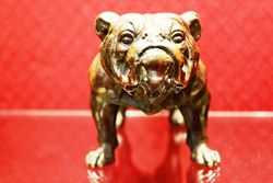 Spelter Figure of a Bulldog