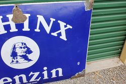 Sphinx Benzine Large Convex Enamel Sign