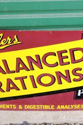Spillers Balanced Rations Enamel Advertising Sign