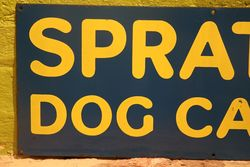 Sprattand39s Dog Cakes Enamel Advertising Sign