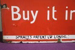 Sprattand39s Enamel Advertising Sign
