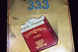 State Express 333 Cigarette Tin Shop Advertising Card