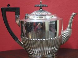 Sterling Silver 3Piece Tea Service Walker and Hall Sheffield 19091910