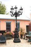 Stunning + Large Cast Iron Garden Lamp