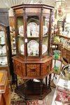 Stunning 19th Century Mahogany Inlaid Rosewood Corner Cabinet C1860