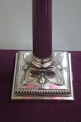 Stunning 19th Century Ruby Glass Oil Lamp