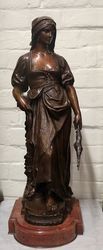 Stunning Antique Female Bronze Signed Marioton
