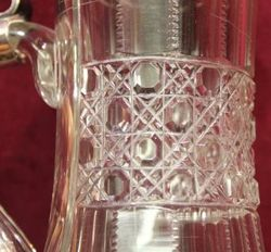 Stunning Cut Glass German Tankard