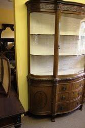 Stunning Late Victorian Mahogany Display Cabinet