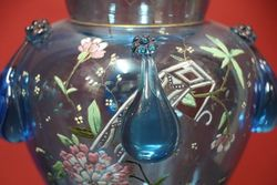 Stunning Pair of Mozart Glass Vases