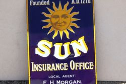 Sun Insurance Enamel Advertising Sign
