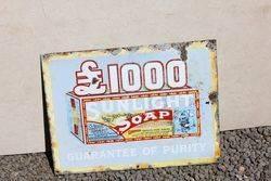 Sunlight Soap Enamel Advertising Sign