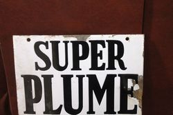Super Plume Ethyl Enamel Advertising Sign