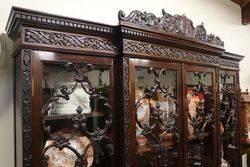 Superb Victorian Mahogany 4 Door Breakfront Bookcase