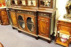 Superb Victorian Mahogany Breakfront Bookcase