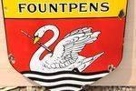 Swan Fountain Pens Enamel Sign