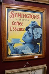 Symingtonand39s Coffee Framed Advertising Card