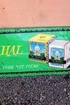 Taj Mahal Tea Tin Advertising Sign