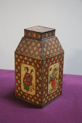 Tea Canister In Japanese Style Tin