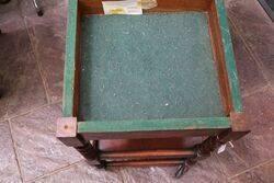 Tea Trolley  Games Table Barley Twist Legs