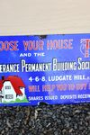 Temperance Permanent Building Society Enamel Sign