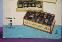 Terryand39s Of York 1767 Chocolate Assortment Card Advertising