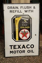 Texaco Motor Oil Enamel Advertising Sign
