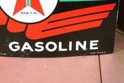 Texaco Sky Chief Enamel Advertising Sign