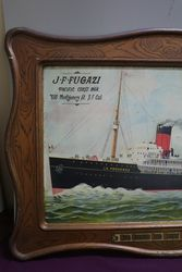 The French Line Great Ocean Flyer Tin Ship Advertising Sign