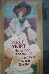 The Pirle Skirt Art Deco Card Hand Coloured