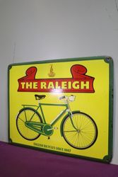 The Raleigh English Bicycles Pictorial Enamel Advertising Sign