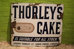 Thorleyand39s Cake Enamel Advertising Sign