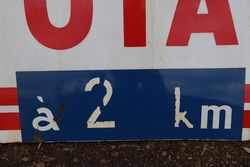 Total Enamel Advertising Sign