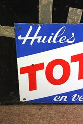 Total Fuels Enamel Advertising Sign