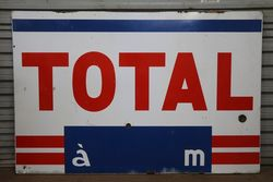 Total Service Station Enamel Sign
