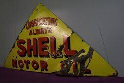 Tri Shell Enamel Advertising Sign