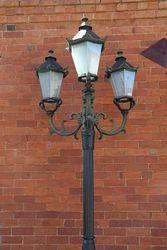 Tudor 3 Branch Cast Iron Garden Lamp