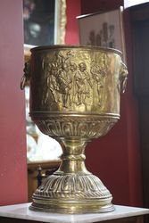Unusual Large Brass Jardiniere C190020