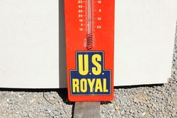 Us Royal Tyres Tin Advertising Thermometer
