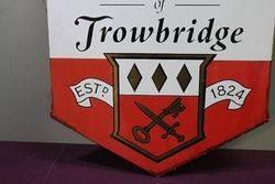 Ushers Trowbridge Pub Advertising Enamel Sign