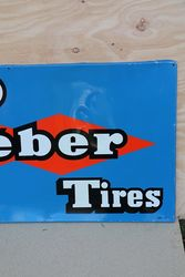 V10 Kleber Tires Aluminum French Advertising Sign