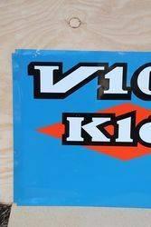 V10 Kleber Tires Aluminum french Advertising Sign