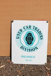 VACC Used Car Traders Enamel Advertising Sign