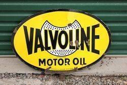 Valvoline Double Sided Lollipop Sign