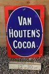 Van Houtens Cocoa Enamel Sign