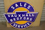 A Very Desirable Vauxhall Bedford Service Enamel Sign.