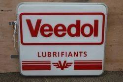 Veedol Lubrifiants Double Sided Light box